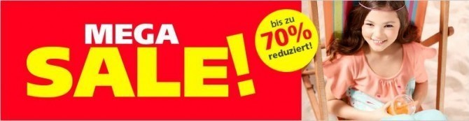 Mega-SALE (c) Screenshot neckermann.de