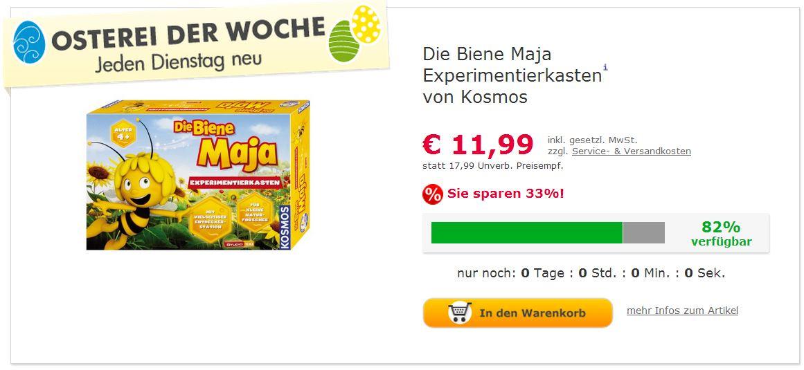 Biene Maja Experimentiekasten (c) Screenshot myToys.de