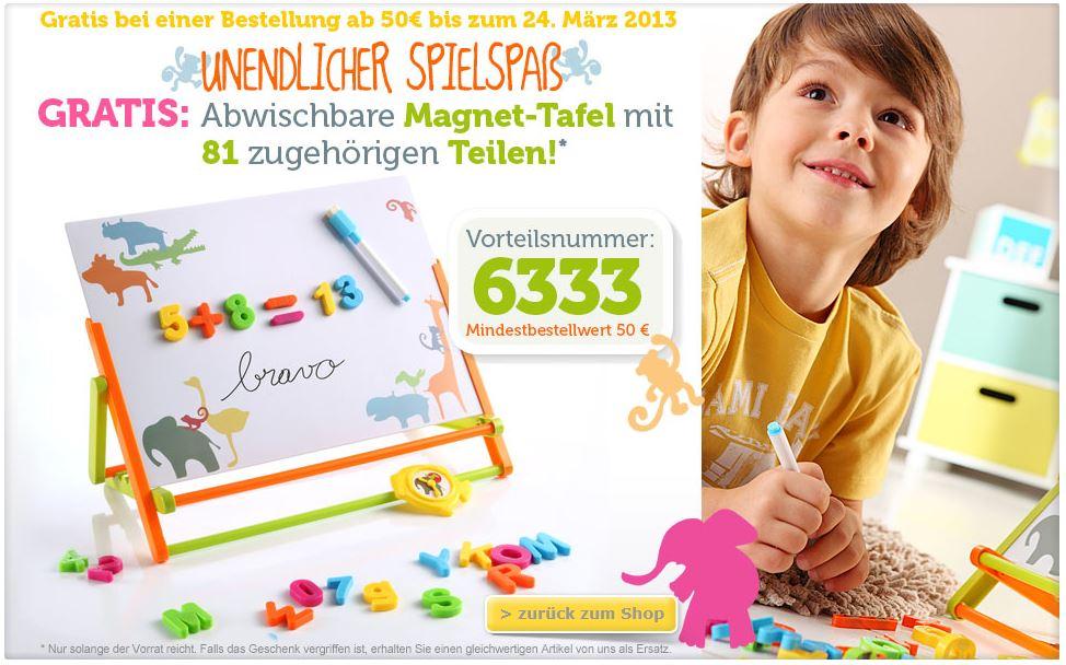 Gratis Magnettafel (c) vertbaudet.de