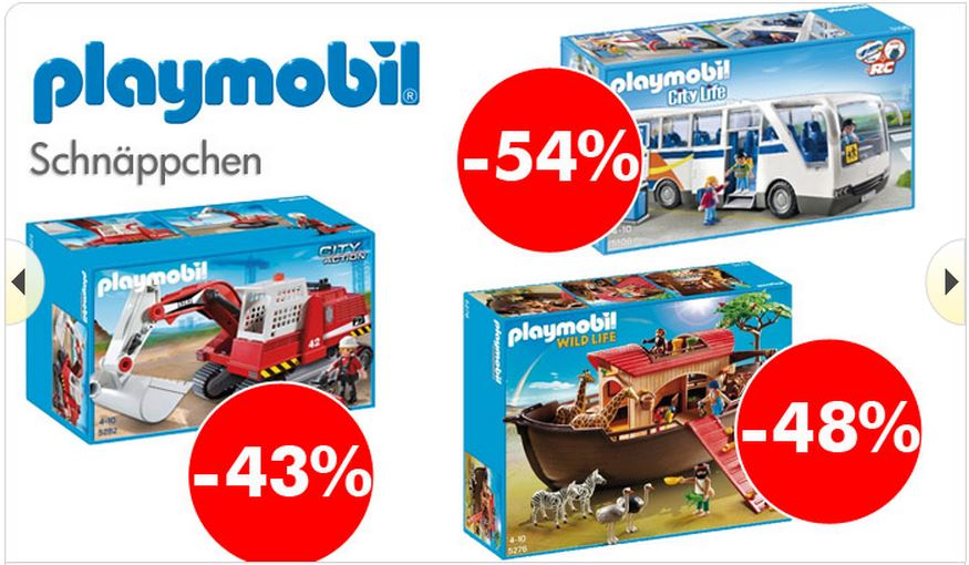 Playmobil Schnäppchen (c) Screenshot myToys.de