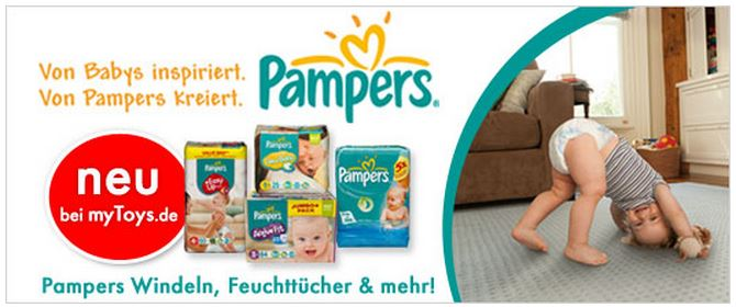 Pampers bei myToys (c) Screenshot myToys.de